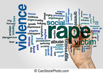 Rape word cloud - Rape concept word cloud background