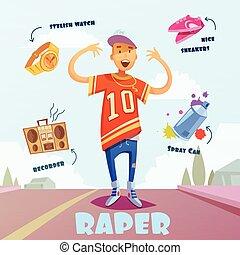 raper, パック, 特徴, 人
