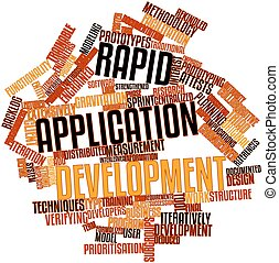 Rapid application development - Abstract word cloud for...