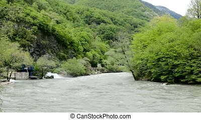 rapid mountain river in Abkhazia