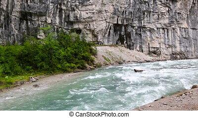 rapid mountain river in Abkhazia