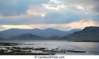 Rapid mountain river in Mongolian A