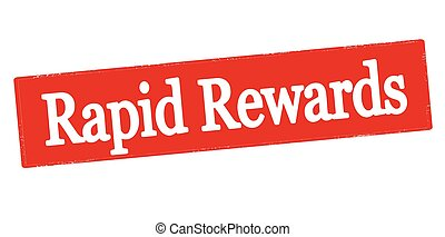 Rapid rewards - Rubber stamp with text rapid rewards inside,...