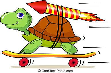 rapidamente, tartaruga