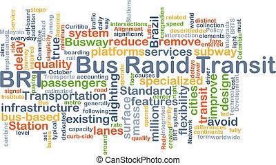 rapide, autobus, transit, brt, concept, fond