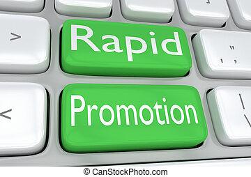 rapide, promotion, concept