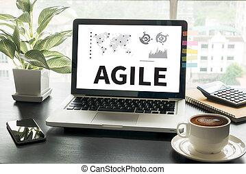 rapide rapide, agile, agile, concept, agilité
