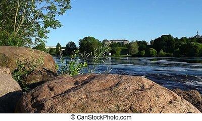 rapide, rivière, vue