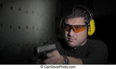 rapide, tir, pistolet
