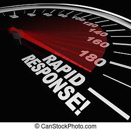 rapido, risposta, tachimetro, emergenza, crisi, servizio