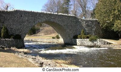 Rapids Bridge - bridge over river rapids