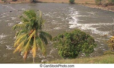 Rapids of San Juan river near Ell Castillo village,...