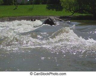 Rapids Starting at Rivers Dam