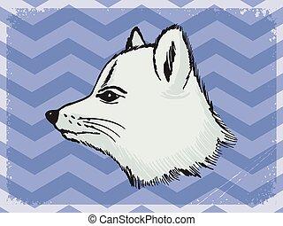 raposa polar, fundo