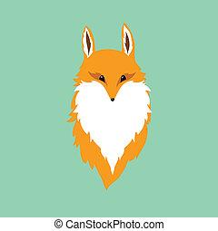 raposa, vermelho