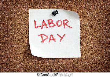 rappel, jour, main-d'œuvre