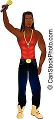 Rapper 1 - Vector Illustration of a rapper, singer, or...