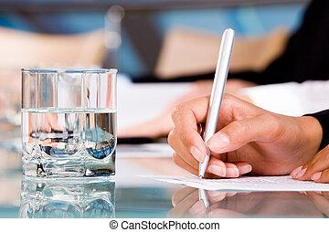 rapport, écriture