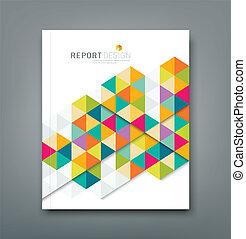 rapport, abstrakt, afdækket, geometriske