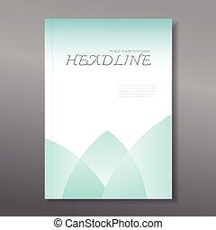 rapport, annuel, couverture, conception