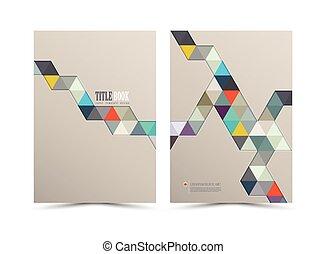 rapport, annuel, couverture, design.