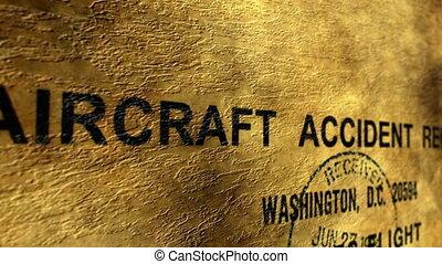 rapport, avion, accident