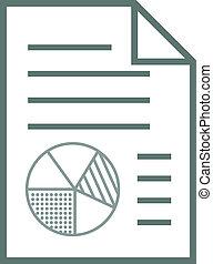 rapport, communie, tabel, pictogram