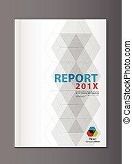 rapport, couverture, annuel, conception, vecteur