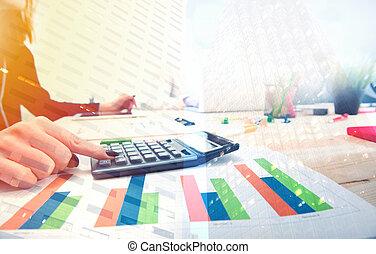 rapport, croissant, compagnie, statistiques, démarrage