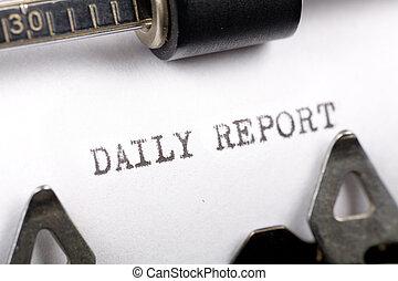 rapport, daglige