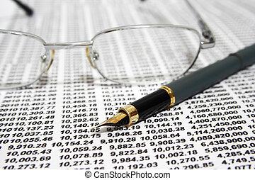 rapport, financier