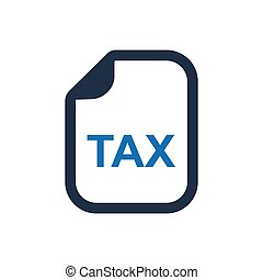 rapport, impôt revenu, icône