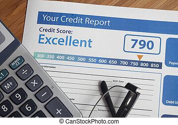 rapport, krediet, partituur