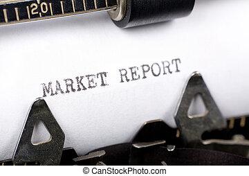 rapport, marché