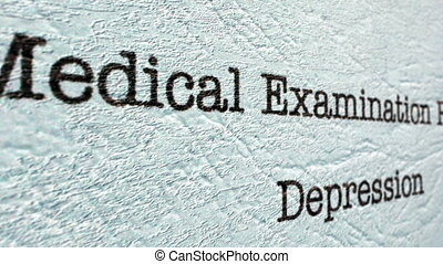 rapport, medisch, depressie