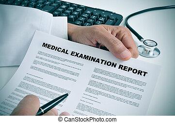 rapport, medisch onderzoek