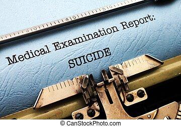 rapport, medisch, zelfmoord, -