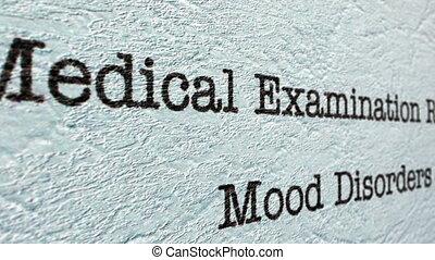 rapport, monde médical, désordre, humeur
