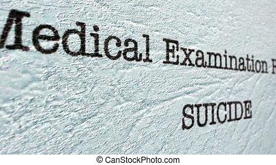 rapport, monde médical, suicide