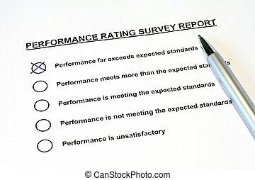 rapport, performance, enquête, classement