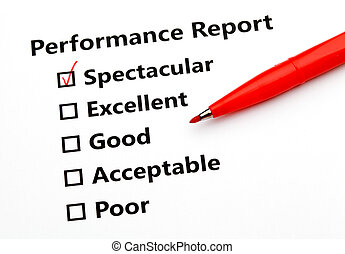 rapport, performance, stylo