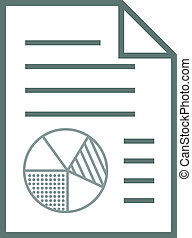 rapport, pictogram, met, tabel, communie