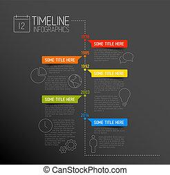 rapport, tijdsverloop, infographic, mal