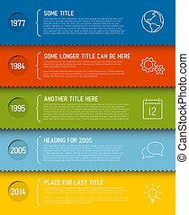 rapport, tijdsverloop, infographic, moderne, mal