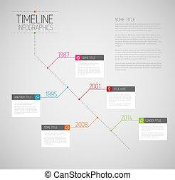 rapport, timeline, infographic, diagonal, gabarit