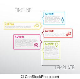 rapport, timeline, infographic, gabarit