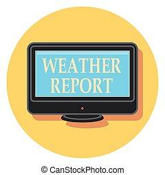 rapport, vejr, ikon, cirkel, lejlighed