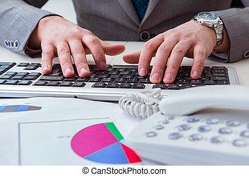 rapporti, professionale, finanza, lavorativo, tastiera