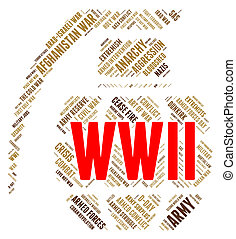 rappresenta, battaglie, ii, militare, azione, mondo, guerra