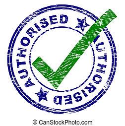 rappresenta, bollato, affirm, autorizzato, francobollo, ...